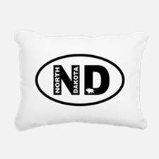 North Dakota Bison Rectangular Canvas Pillow