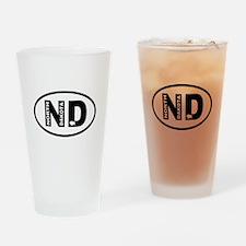 North Dakota Bison Drinking Glass