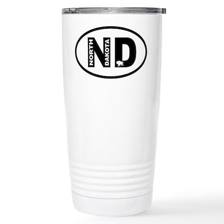 North Dakota Bison Travel Mug