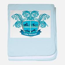 Lake Norman Splash Logo - LKN baby blanket