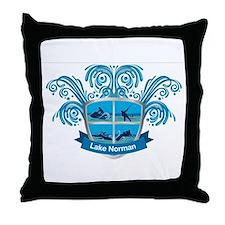 Lake Norman Splash Logo - LKN Throw Pillow