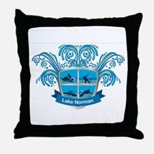 Lake Norman Splash Logo - LKN Throw Pillow