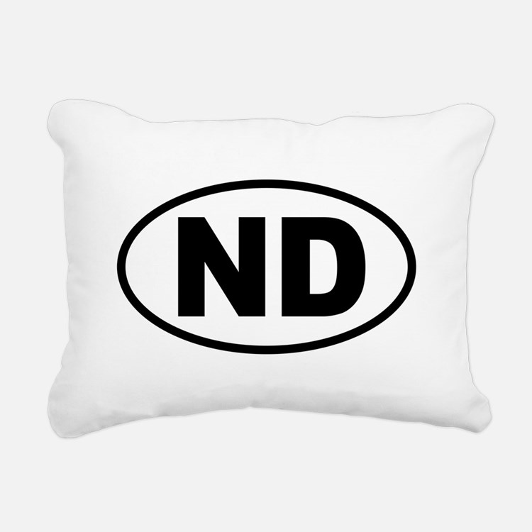 North Dakota Rectangular Canvas Pillow