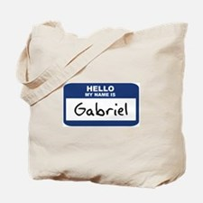 Hello: Gabriel Tote Bag