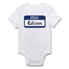 Hello: Edison Infant Bodysuit