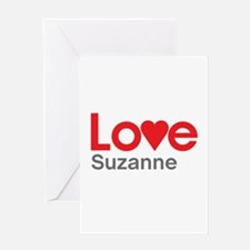 I Love Suzanne Greeting Card