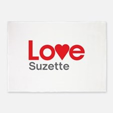 I Love Suzette 5'x7'Area Rug