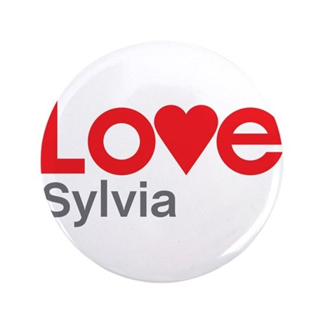 "I Love Sylvia 3.5"" Button (100 pack)"