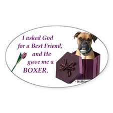 Boxer Rectangle Decal
