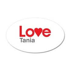 I Love Tania Wall Decal