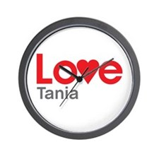 I Love Tania Wall Clock