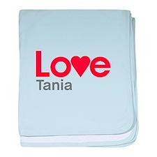 I Love Tania baby blanket
