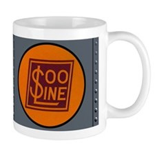 Vintage Train Engine Panel Coffee Small Mug