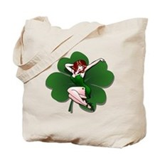 St. Patrick's Pin-Up Girl Lucky Shirts Tote Bag