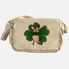 St. Patrick's Pin-Up Girl Lucky Shirts Messenger B