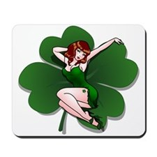 St. Patrick's Pin-Up Girl Lucky Shirts Mousepad