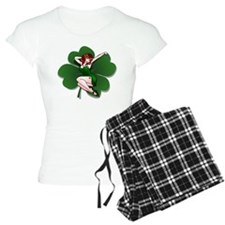 St. Patrick's Pin-Up Girl Lucky Shirts Pajamas