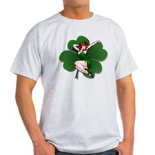 St. Patrick's Pin-Up Girl Lucky Shirts T-Shirt