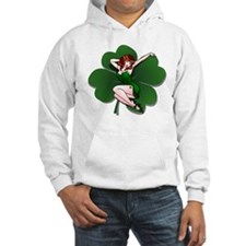 St. Patrick's Pin-Up Girl Lucky Shirts Hoodie
