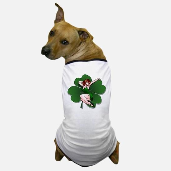 St. Patrick's Pin-Up Girl Lucky Shirts Dog T-Shirt
