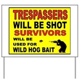 No trespassing Yard Signs