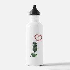 Zombie love Water Bottle