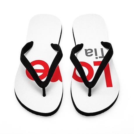 I Love Tia Flip Flops