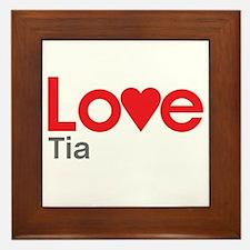 I Love Tia Framed Tile