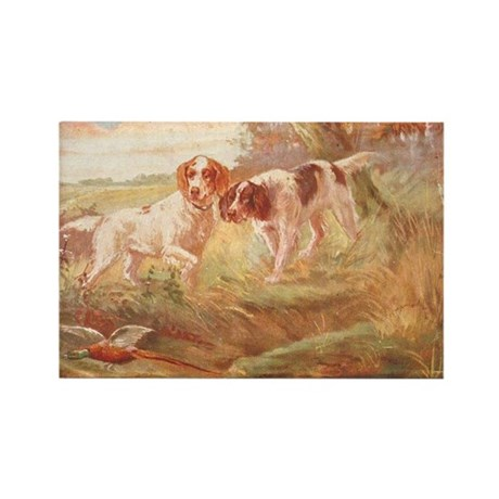 pheasant hunting with bird dogs Rectangle Magnet