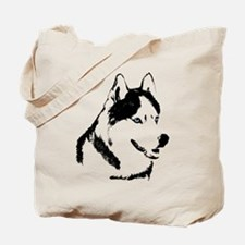 Husky Malamute Sled Dog Art Tote Bag