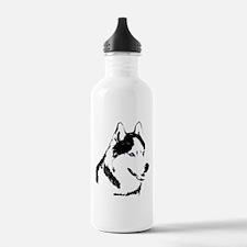 Husky Malamute Sled Dog Art Water Bottle