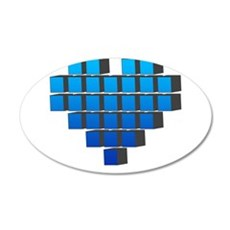 Pixel Heart Wall Decal