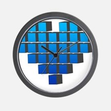 Pixel Heart Wall Clock