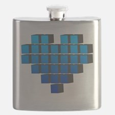Pixel Heart Flask