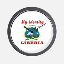 My Identity Liberia Wall Clock