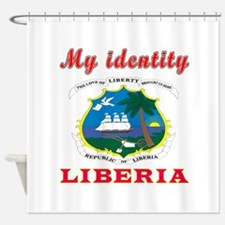 My Identity Liberia Shower Curtain