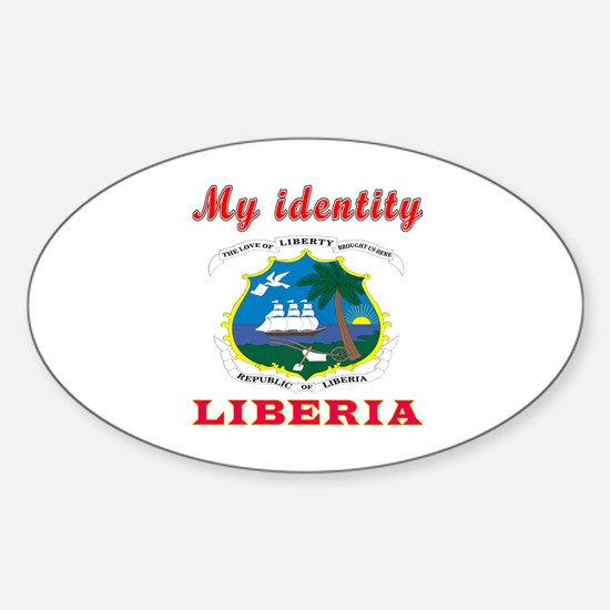 My Identity Liberia Sticker (Oval)