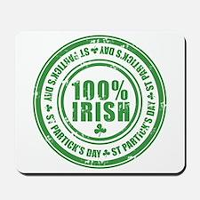 100 percent irish stamp Mousepad