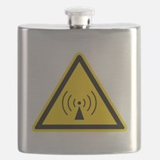 rF Warning Sign Flask