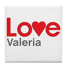 I Love Valeria Tile Coaster