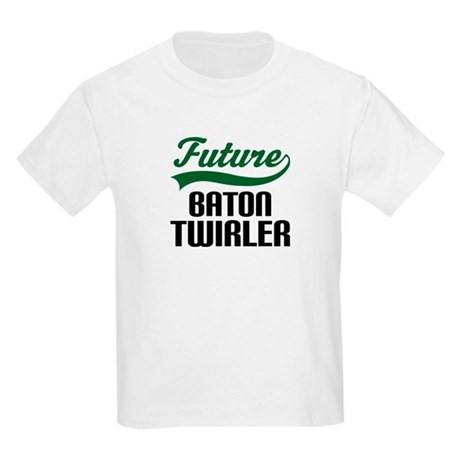 Future Baton Twirler Kids Light T-Shirt