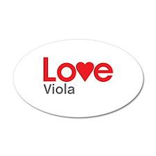 I Love Viola Wall Decal