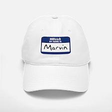 Hello: Marvin Baseball Baseball Cap