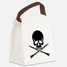 Skull with Clarinets Canvas Lunch Bag