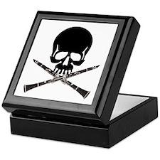 Skull with Clarinets Keepsake Box