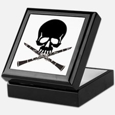Skull with Clarinets Keepsake Box