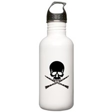 Skull with Clarinets Water Bottle