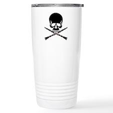 Skull with Clarinets Travel Mug