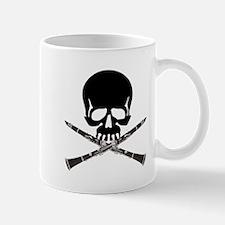 Skull with Clarinets Mug