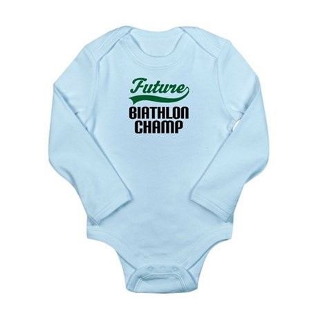 Future Biathlon Champ Long Sleeve Infant Bodysuit